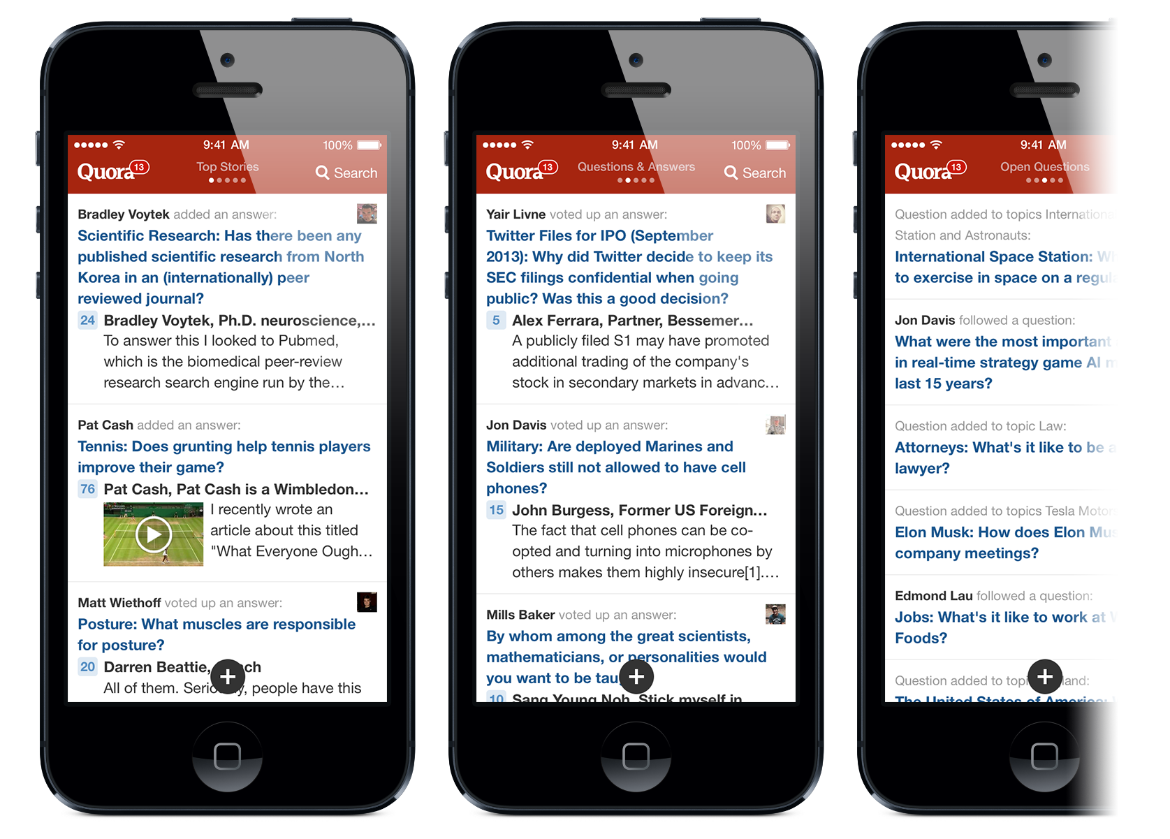 Quora Launches iOS 7 App, Reveals Plans for iPad Version This Year