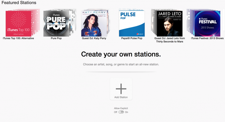 itunesradio osx 730x395 Hands on with Apples iRadio: Internet radio for the masses