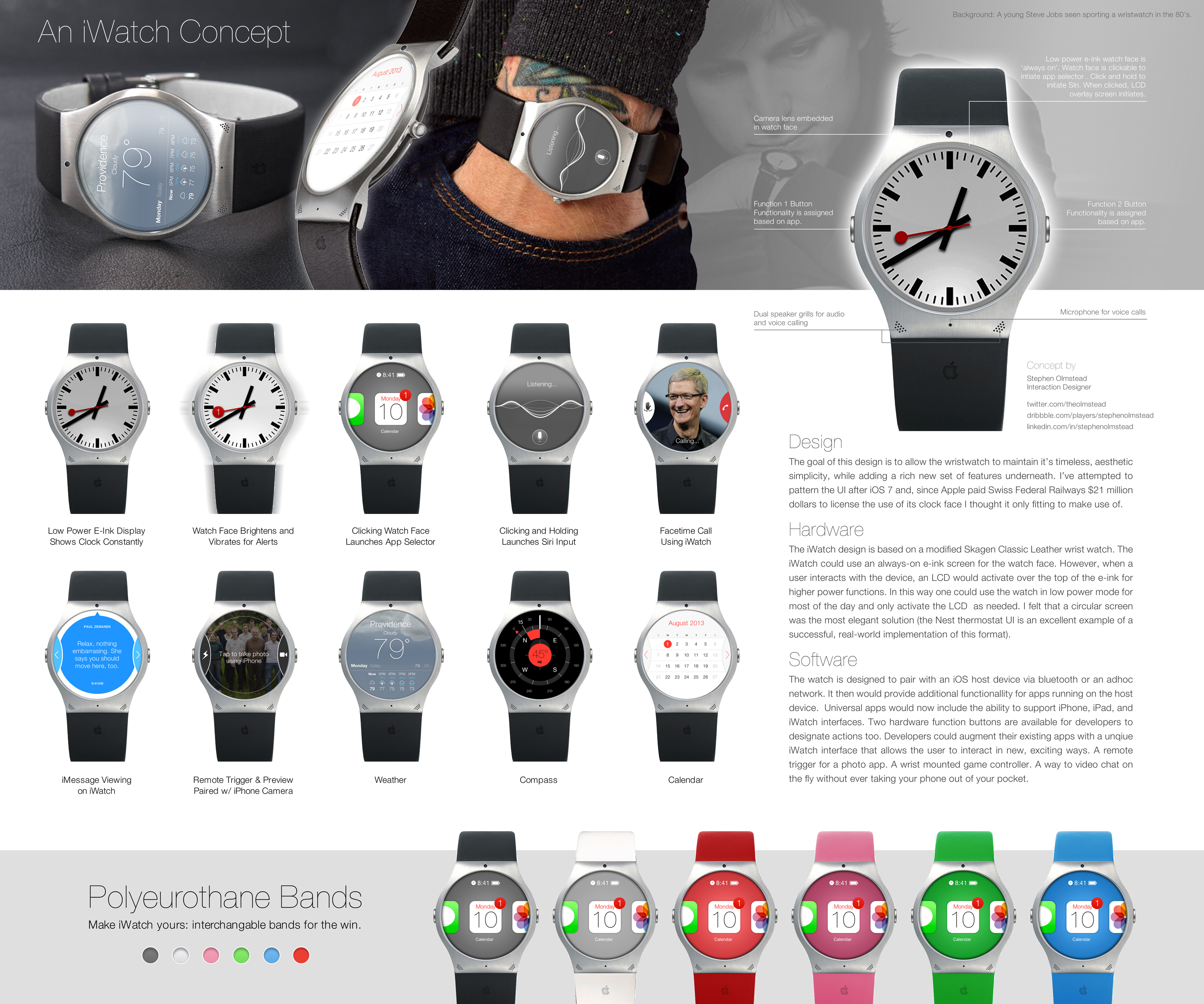 iwatch mockup Fashion is subjective: Smartwatches and Google Glass wont sell unless people think theyre stylish