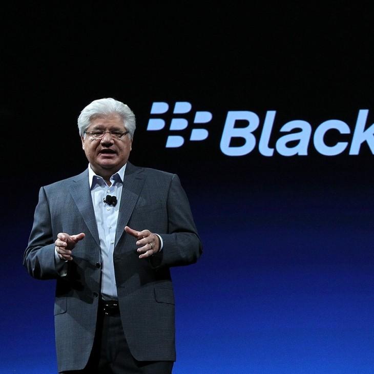 BlackBerry CEO Addresses Company's DevCon Gathering