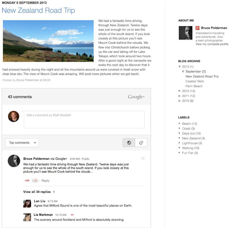 Post on blogs