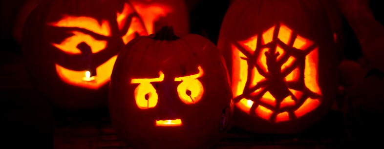 Carved pumpkins are seen at the 7th annu