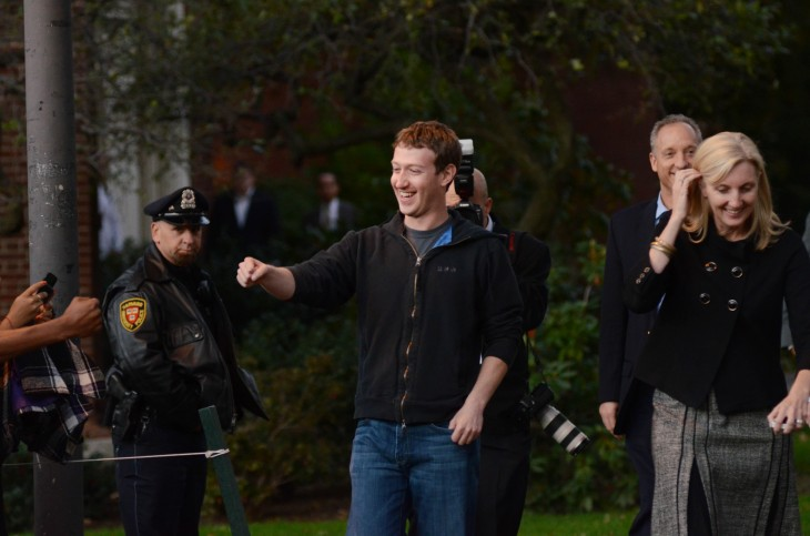 Facebook CEO Mark Zuckerberg Visits Computer Science Students At Harvard And MIT