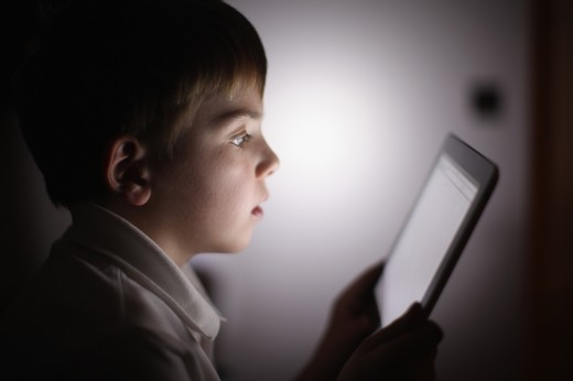 Children Interacting With Tablet Technology