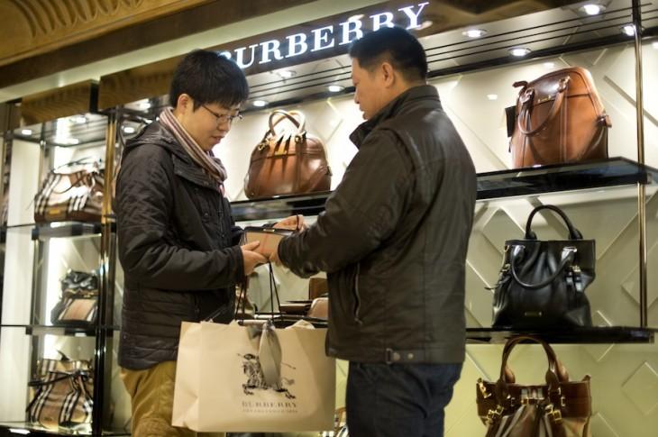 China tourists Burberry