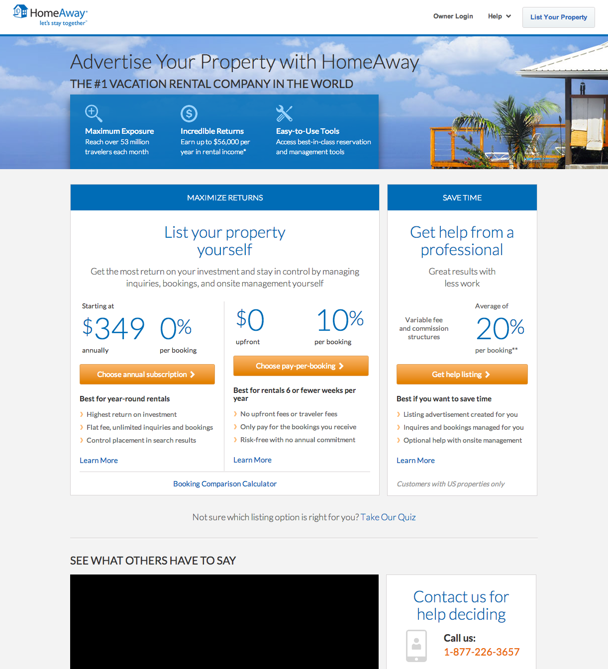 Search For Rental Properties: Vacation Rental Site HomeAway Hits 1 Million Listings