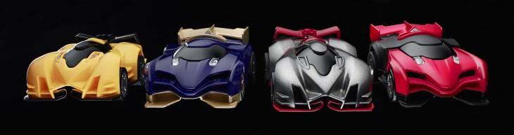 Anki Drive Characters - Kourai, Katal, Boson & Rho (front view)