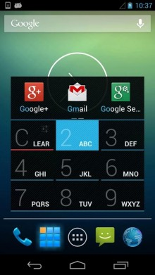 Tap out the name of the app on the T9 dialer to quickly launch any app on your device.