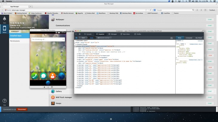 AppManager 730x410 Mozilla unveils Firefox OS App Manager, a developer tool coming in Firefox 26 for building and debugging apps