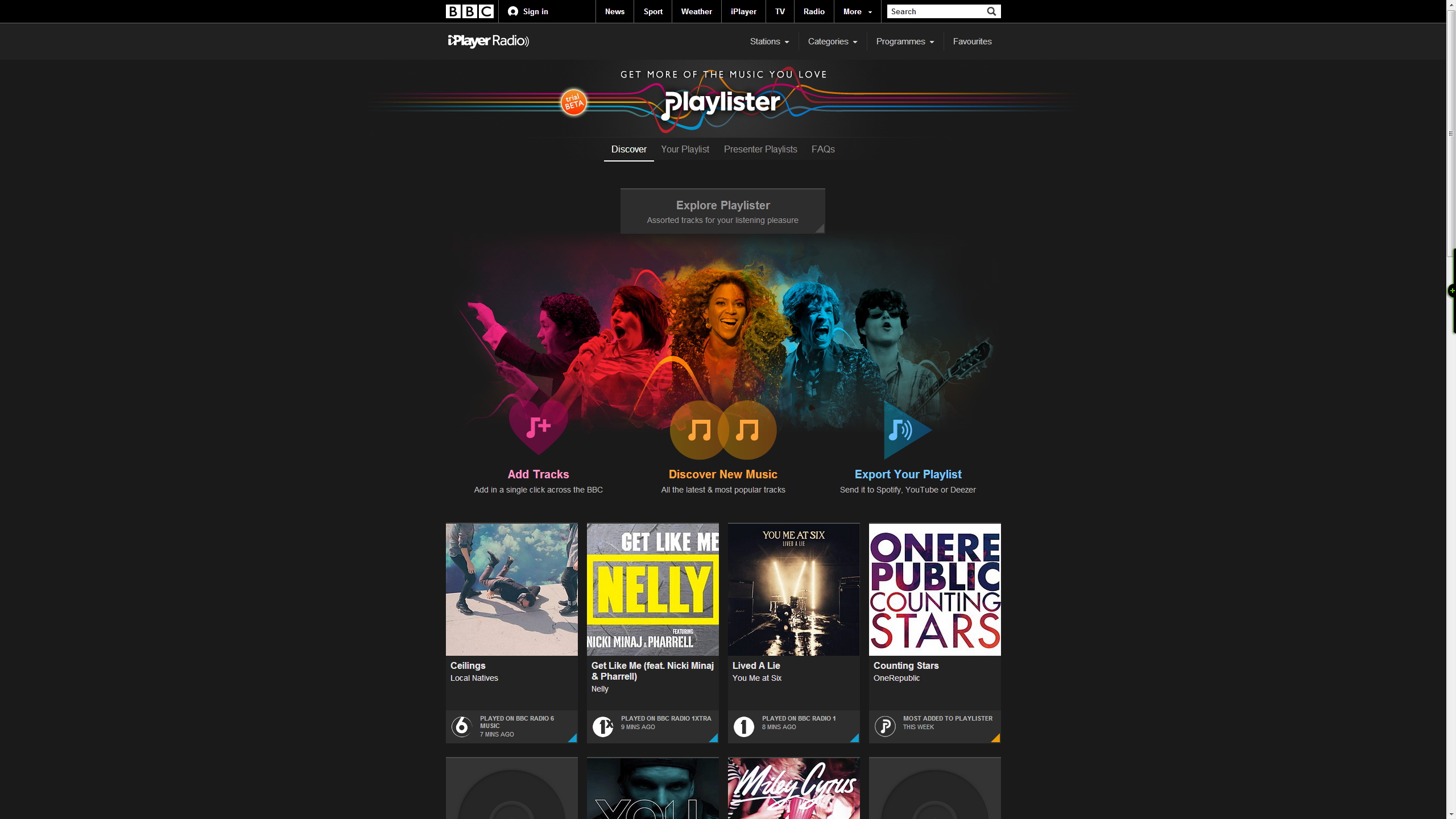 BBC Playlister homepage How to use the BBCs new Playlister music service