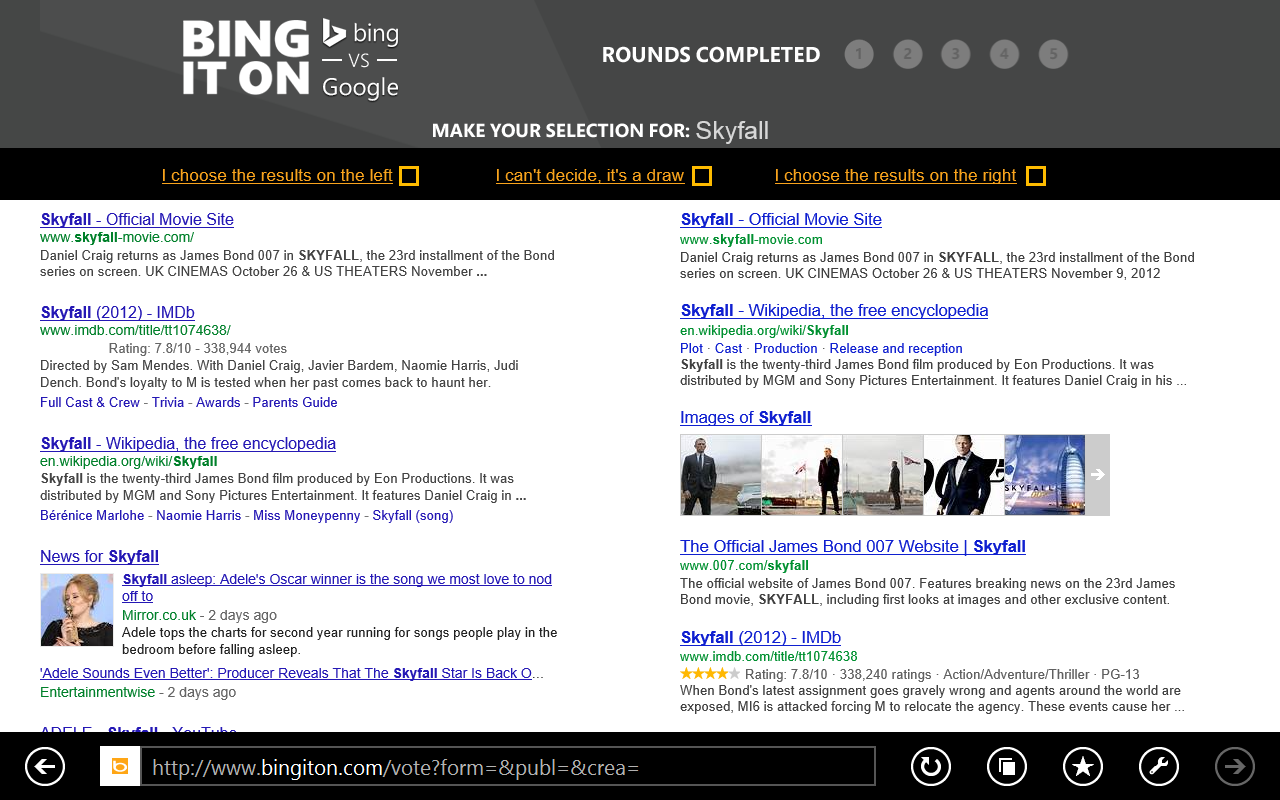 BingItOn Microsoft tells UK users to BingItOn too, says 53% of Brits prefer Bing to Google in blind test