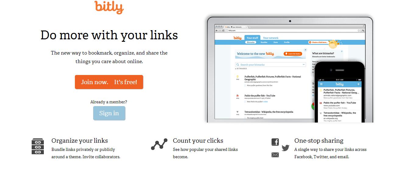 Bitly custom URL shortener