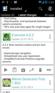 Keep track of your additions and changes to your apps with Changelog Droid.