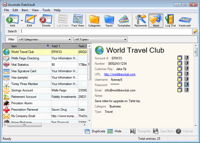 DataVault for desktop