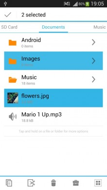 With a slick interface, File Manager makes the file system easy to get around.