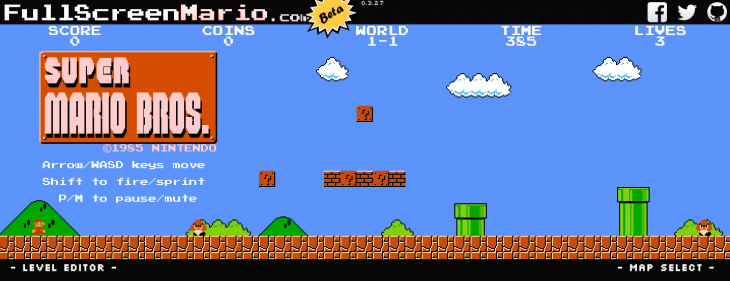 Get ready to waste your life: 'Super Mario Bros.' is now playable on your Web browser