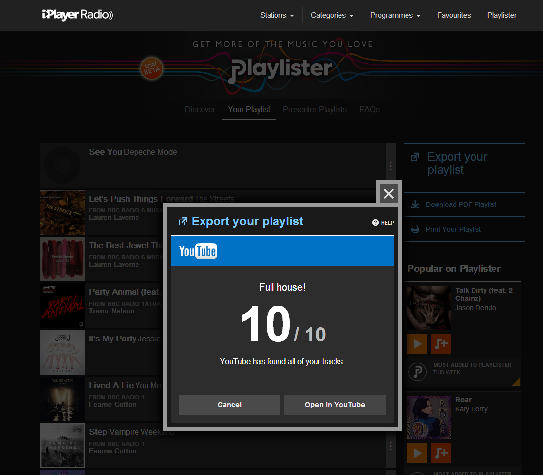 Full House YouTube How to use the BBCs new Playlister music service