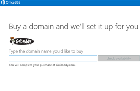 GoDaddy MSFT11 Microsoft customers can now buy Go Daddy domain names directly within Office 365