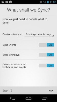 With HaxSync, it is easy to keep up with the contact details of your friends and events on Facebook.