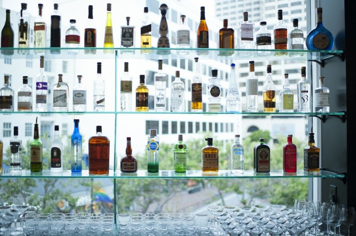 Fully stocked options at the HotelTonight Bar.