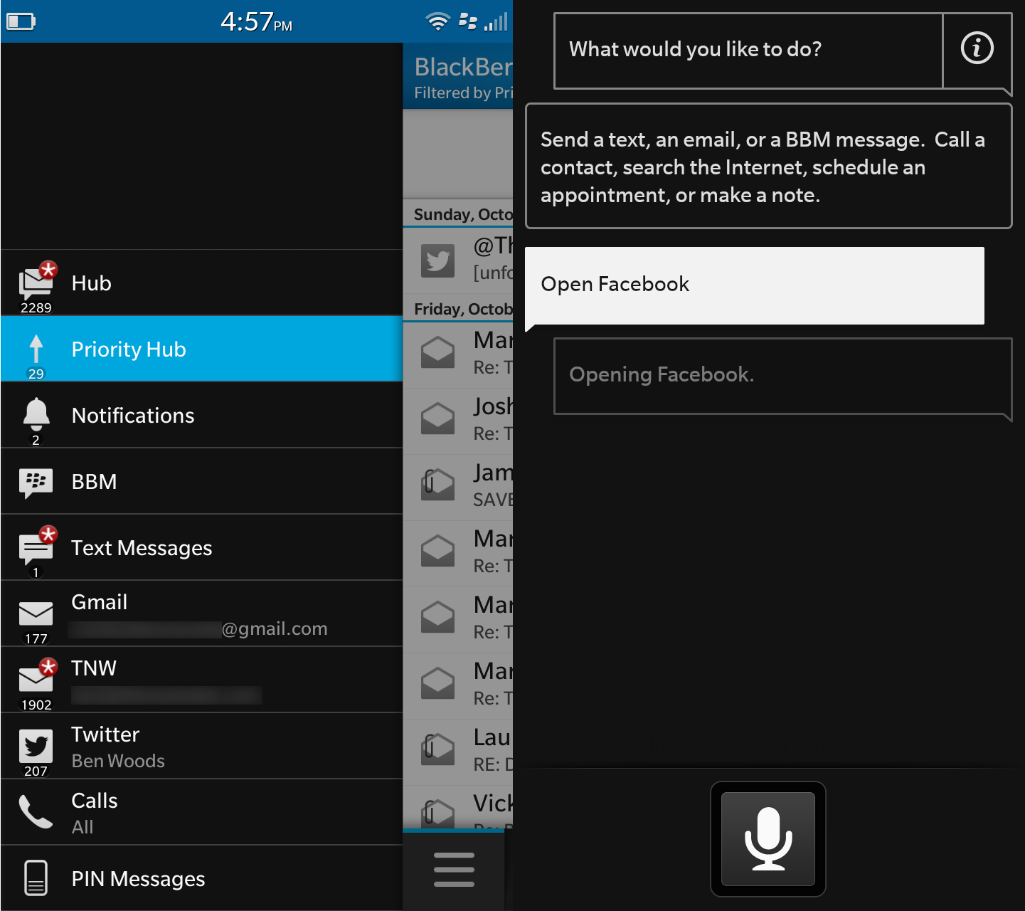 Hub Voice control Z30 BlackBerry Z30 review: The problem with this phone isnt the hardware. Or the software.