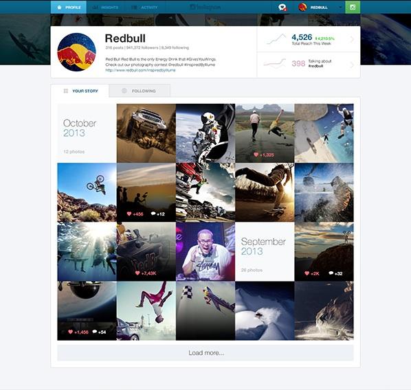 This Design Concept Showcases Instagram For Businesses