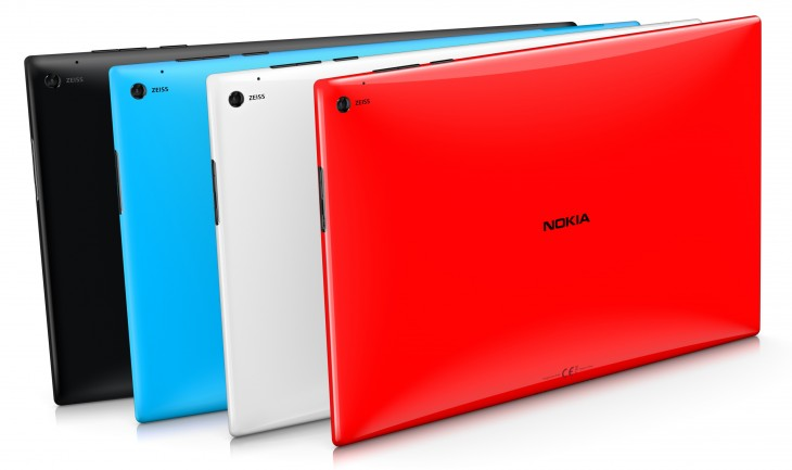 Lumia2520 ColorRange 730x433 Nokia unveils 10.1 Lumia 2520, a $499 Windows RT 8.1 tablet coming this fall with LTE and a $150 Power Keyboard