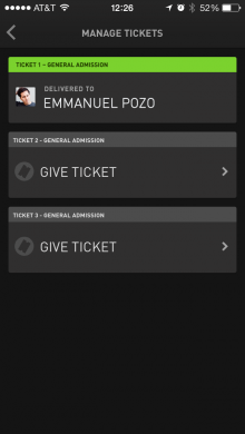 Manage Tickets WillCall
