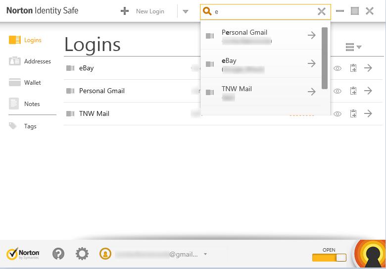 Norton Identity Safe for Desktop