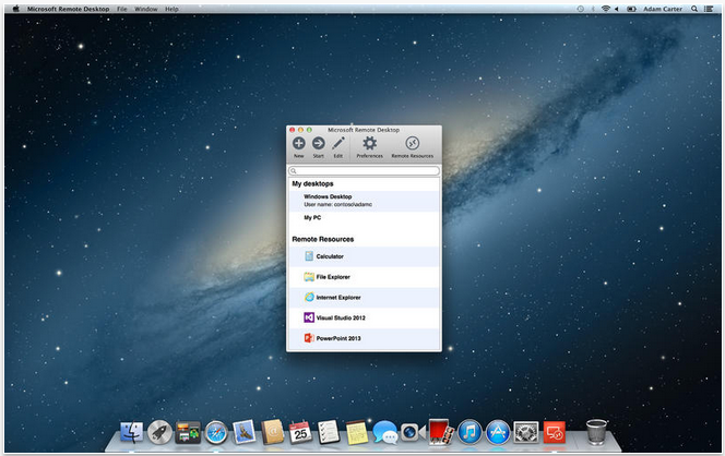 Microsoft updates os x remote desktop app so you can access pc from mac screen shot 2013 10 17 at 42814 pm ccuart Choice Image
