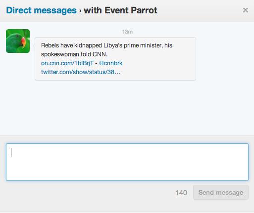 Twitter Eventparrot Screenshot