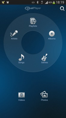 RealPlayer video player app Android