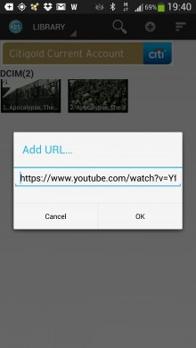 BSPlayer video player add URL