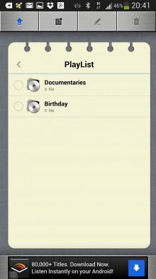 RockPlayer2 video app playlist