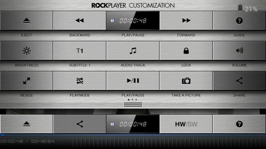 RockPlayer2 video player customization