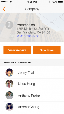 Tempo Smart Calendar 1.1 Company card 220x390 Tempo adds Rapportive like feature to its smart calendar app to show relevant contacts at events