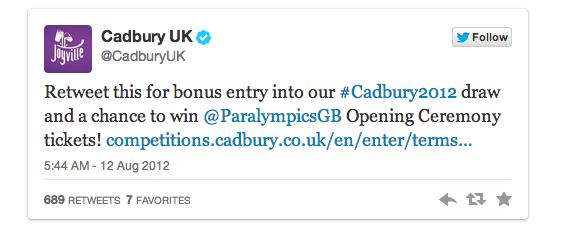 cadbury tweet
