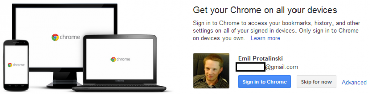 chrome signin 730x186 Google tests intermediary Gmail page prompting users to sign into Chrome