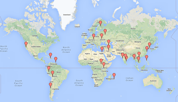 Coursera And US Department Of State Launch Global Learning Hubs - World map la