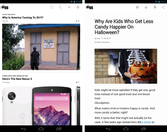 digg11 30 of the most beautiful and well designed Android apps
