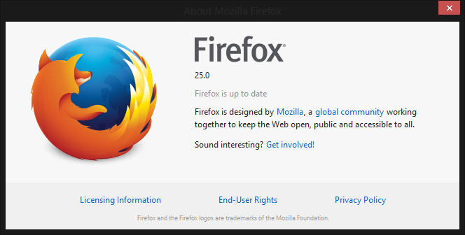 Mozilla Firefox 25 is Out for Windows, Mac, and Linux