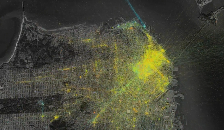 Foursquare designer explains how he created mesmerizing visualizations from check-in data