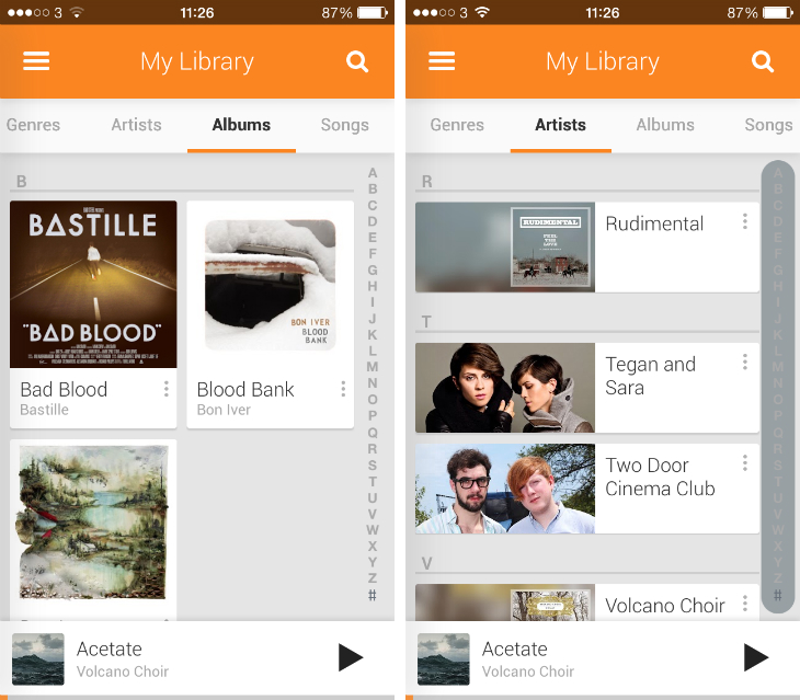 gplusmusic2 An in depth guide to Google Play Music All Access