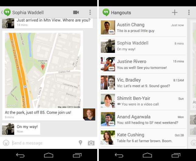Google Hangouts Gets Animated GIFs and SMS Support