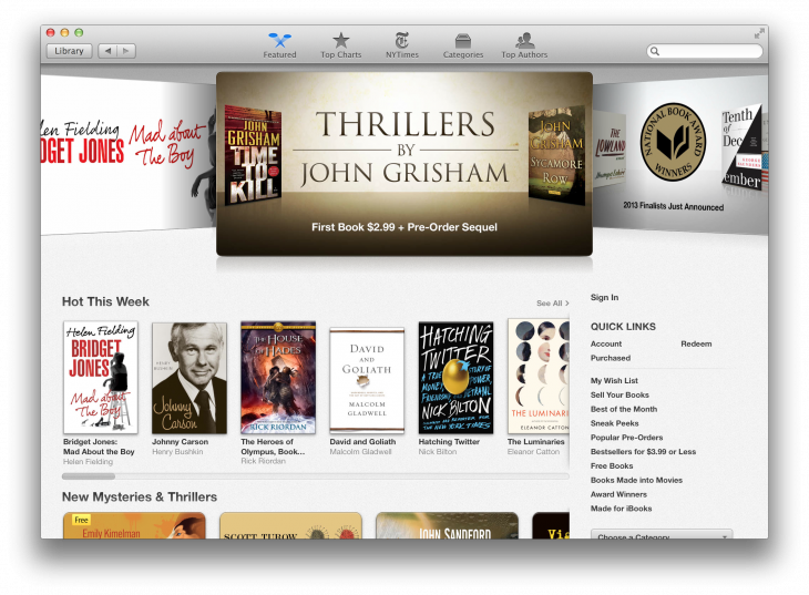 ibooks osxmavericks 730x537 Review: OS X Mavericks