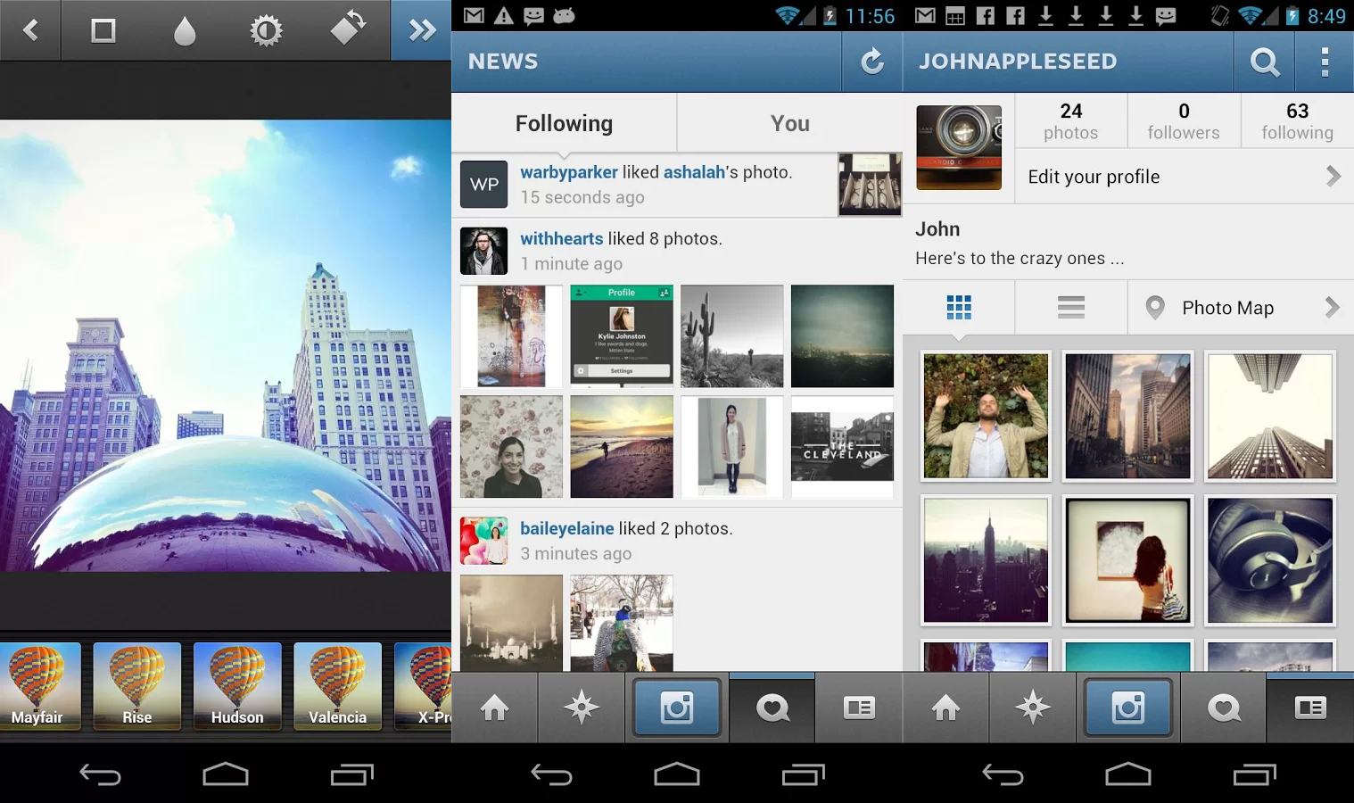 Instagram Gets Video Controls, Android Gets Photo