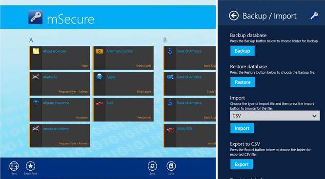 mSecure for desktop