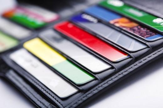 Wallet credit cards