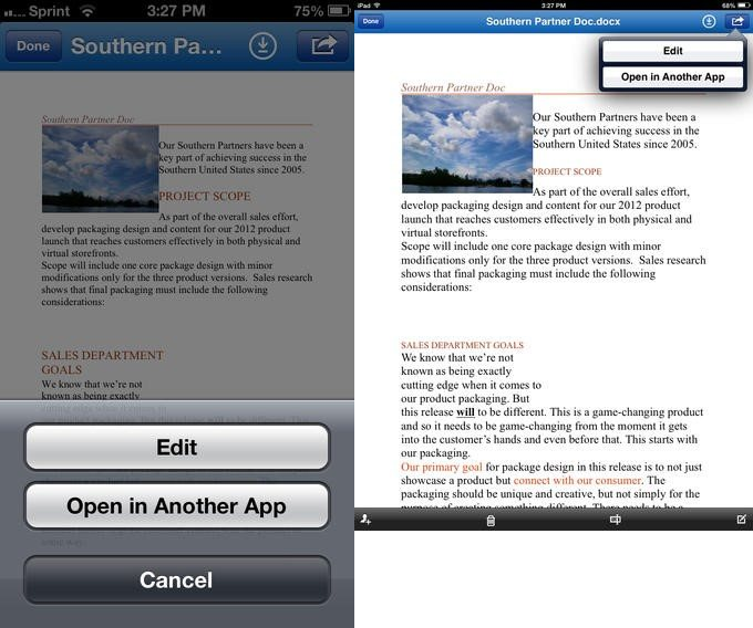 skydrive pro ios edit SkyDrive Pro for iOS gets mobile editing support via Office 365 for business users