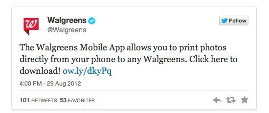 walgreens tweet